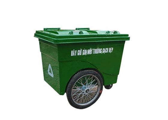 xe gom rác bánh hơi